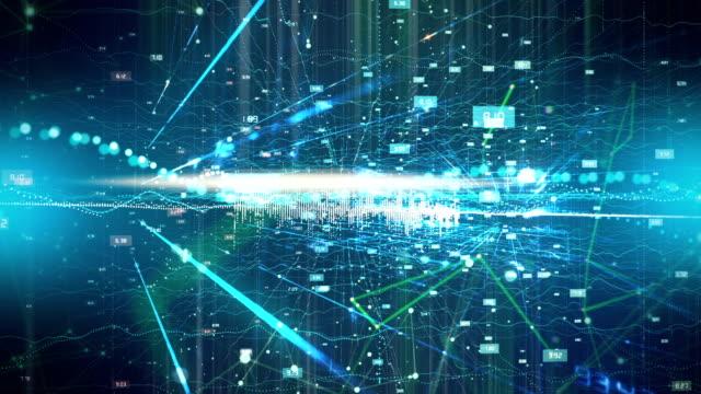 futuristische simulation künstlicher intelligenz - menschliches nervensystem stock-videos und b-roll-filmmaterial