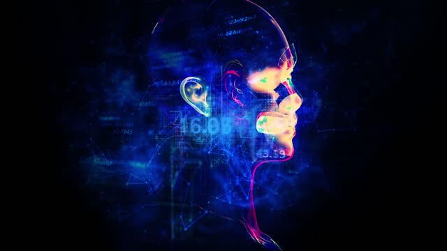 futuristisk artificiell intelligens simulering - cerebellum bildbanksvideor och videomaterial från bakom kulisserna