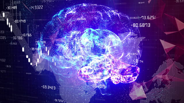 futuristic artificial intelligence simulation - cerebral hemisphere stock videos & royalty-free footage