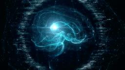 Futuristic Brain Scan.