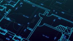 futuristic CAD interface