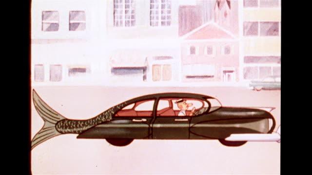 Futuristic car with literal fish tail design