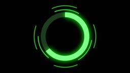 Futuristic circle progress bar animation