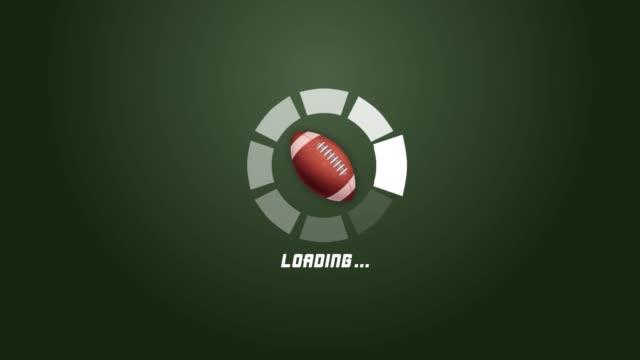 vídeos y material grabado en eventos de stock de 4k animación de barra de progreso de círculo futurista con movimiento de rotación de fútbol americano - barra futbol