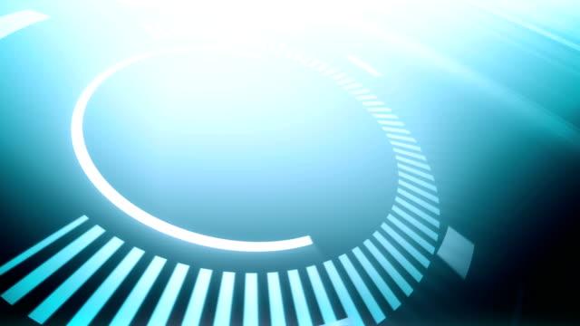 Futurista fundo de círculos-Loop