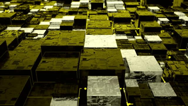 未来都市背景ループ - ピア・ツー・ピア点の映像素材/bロール