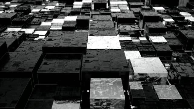 未来都市背景ループ - イーサリアム点の映像素材/bロール