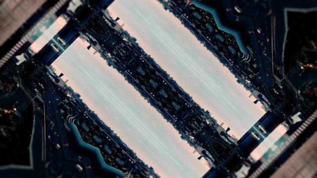 Futuristic City Kaleidoscope Abstract Background
