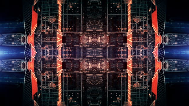 futuristic city kaleidoscope abstract background - surrealism stock videos & royalty-free footage