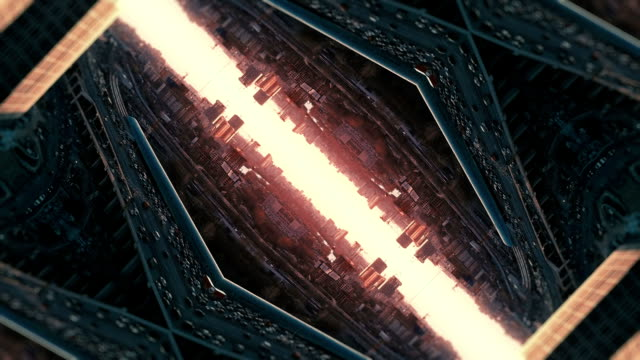 futuristic city kaleidoscope abstract background - kaleidoscope pattern stock videos & royalty-free footage
