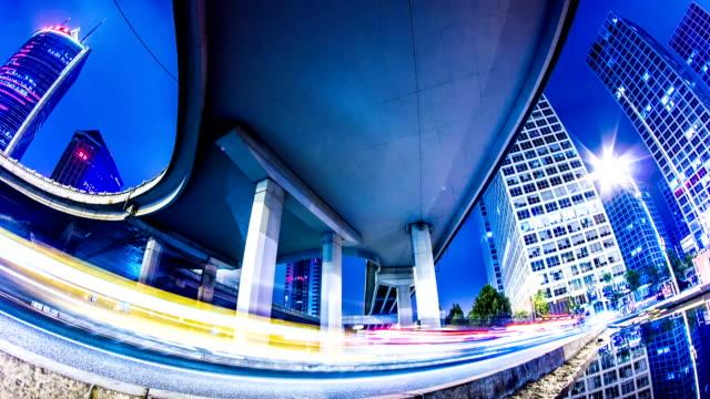 futuristic city panning timelapse - dark blue stock videos & royalty-free footage