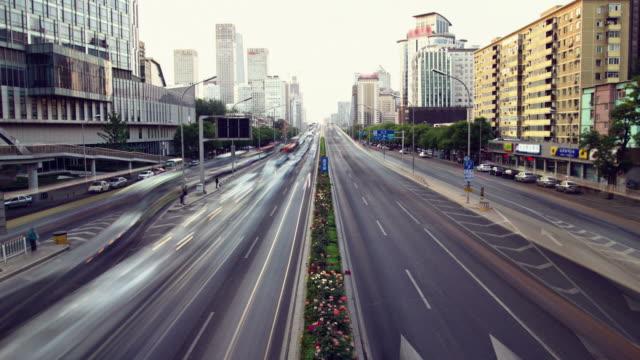 vídeos de stock e filmes b-roll de futurista cidade timelapse - long exposure