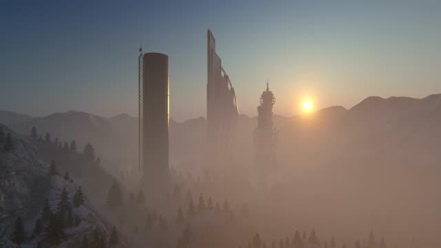 vidéos et rushes de ville futuriste  - animation numérique