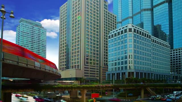 未来的な都市 - 線路のポイント点の映像素材/bロール