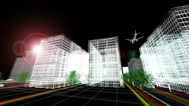 stockvideo's en b-roll-footage met futuristic city (full hd) - architectuur