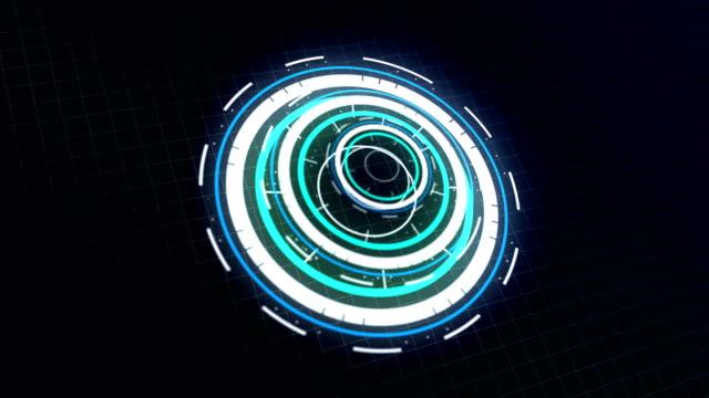 hud futuristiska kommunikations element stock video - grafisk framställning bildbanksvideor och videomaterial från bakom kulisserna