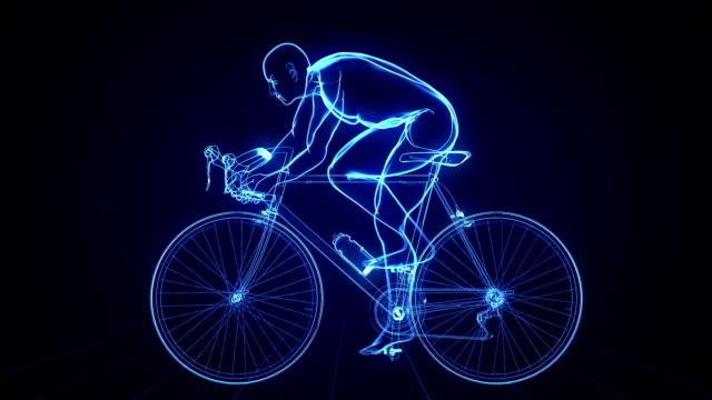 vídeos de stock, filmes e b-roll de ciclismo fundo futurista - atleta de campo e pista