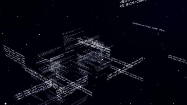 vídeos de stock, filmes e b-roll de código de dados futurista - vírus de computador