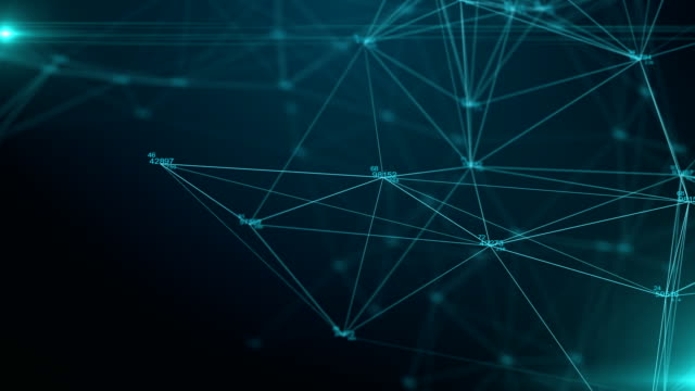 Futuristische Datenverbindung in Cyber-Welt, Technologie-Konzept