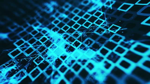 Futuristic digital blockchain background, fintech technology concept