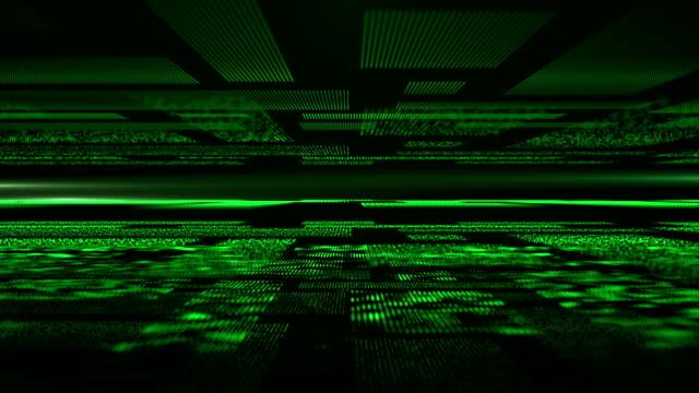 Futuristische digital Cyber-Raum mit Dot Platten schweben