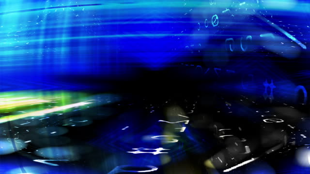 futuristic digital technology screen abstraction - マルチメディア点の映像素材/bロール