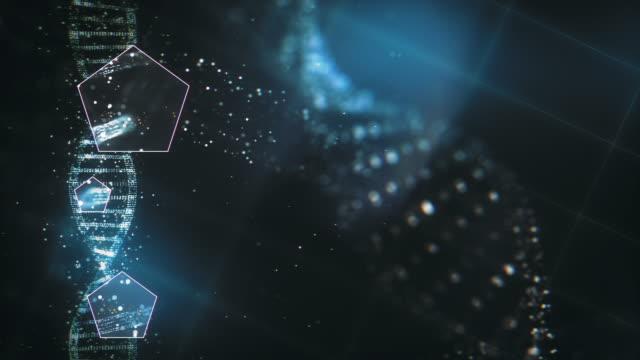 未来の dna 研究の背景 - らせん点の映像素材/bロール