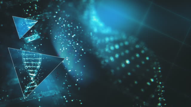 futuristic dna research background - copy space stock videos & royalty-free footage