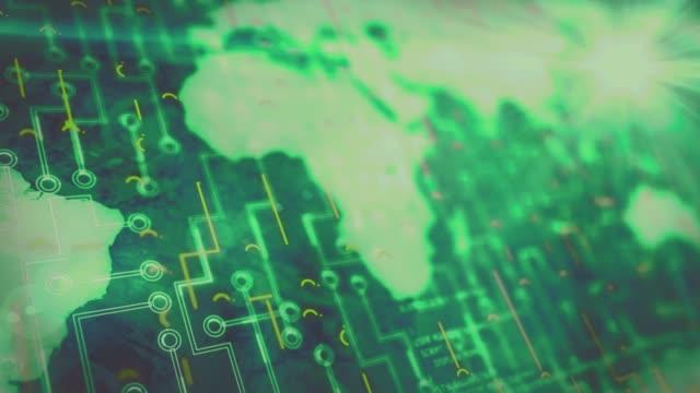 vidéos et rushes de expérience abstraite futuriste de la technologie de carte de terre concept de communication globale - webinaire