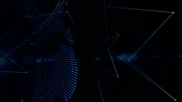 futuristische erde mit orbit ring und verbindung verbindungen, technologie, hintergrund - kooperation stock-videos und b-roll-filmmaterial