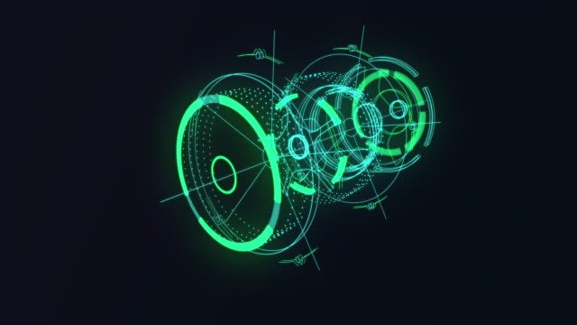 hud gui futuristic element. set of circle abstract digital technology ui futuristic hud virtual interface elements - weather stock videos & royalty-free footage