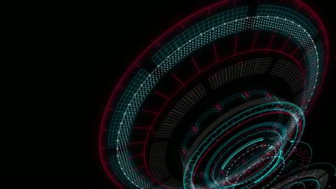 vídeos y material grabado en eventos de stock de elemento futurista hud gui. conjunto de elementos de interfaz virtual hud futurista de la tecnología digital abstracta de círculo - motor eléctrico