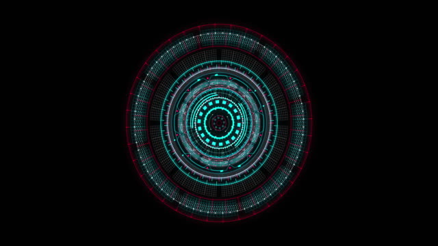 hud gui futuristic element. set of circle abstract digital technology ui futuristic hud virtual interface elements - head up display vehicle part stock videos & royalty-free footage