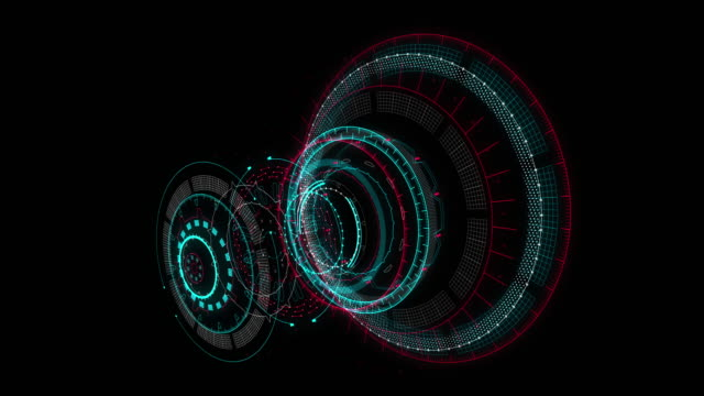 hud gui futuristic element. set of circle abstract digital technology ui futuristic hud virtual interface elements - graphical user interface stock videos & royalty-free footage