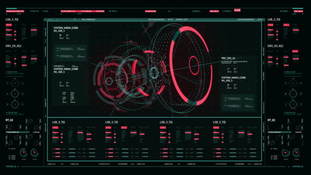 hud gui futuristic element. set of circle abstract digital technology ui futuristic hud virtual interface elements - motor stock videos & royalty-free footage