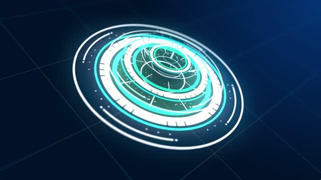 elemento futuristico hud gui. set di elementi di interfaccia virtuale hud futuristici della tecnologia digitale astratti circle - design element video stock e b–roll