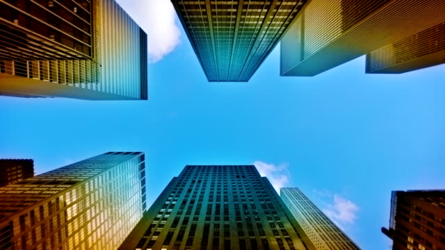 futuristic financial district. - directly below stock videos & royalty-free footage