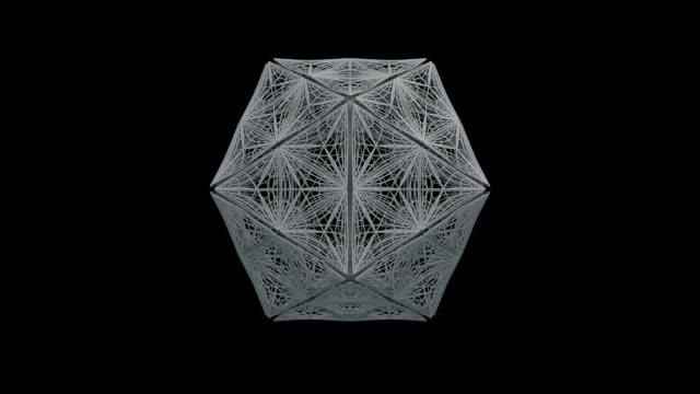 vídeos y material grabado en eventos de stock de futuristic fractal nano array - estructura molecular