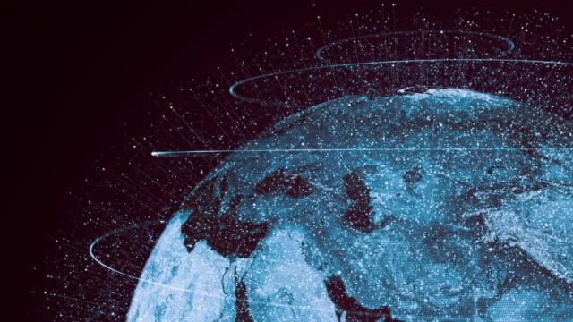 vídeos y material grabado en eventos de stock de conexiones globales futuristas alrededor del planeta tierra - establecer una red de contactos