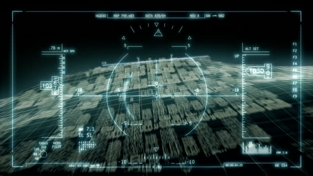 futuristic heads-up display - fighter stock videos and b-roll footage