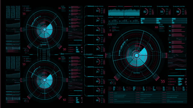 futuristic hud interface - neon coloured stock videos & royalty-free footage