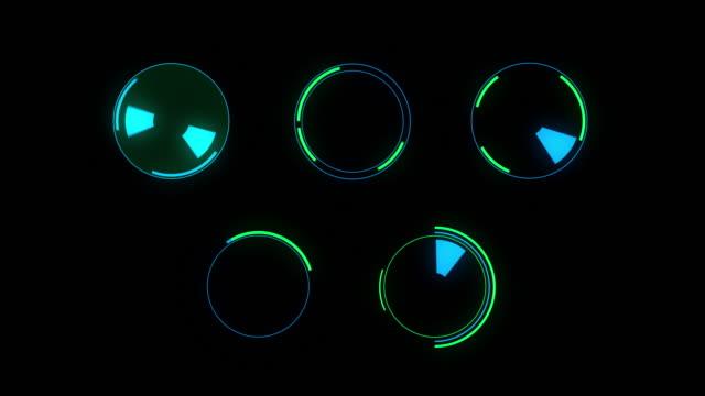 vídeos de stock, filmes e b-roll de gráficos em movimento futurista de hud - ícone de computador