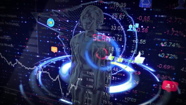 futuristic interface and an young engineer  woman using futuristic gui - machinery stock videos & royalty-free footage