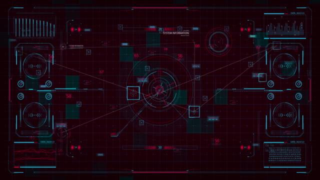 futuristic interface hud digital screen - computer language stock videos & royalty-free footage