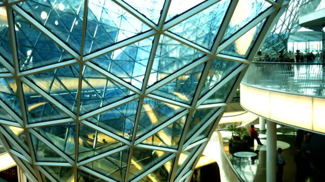 Futuristische Innenansicht des Einkaufszentrums PAN (4 k UHD zu/HD)