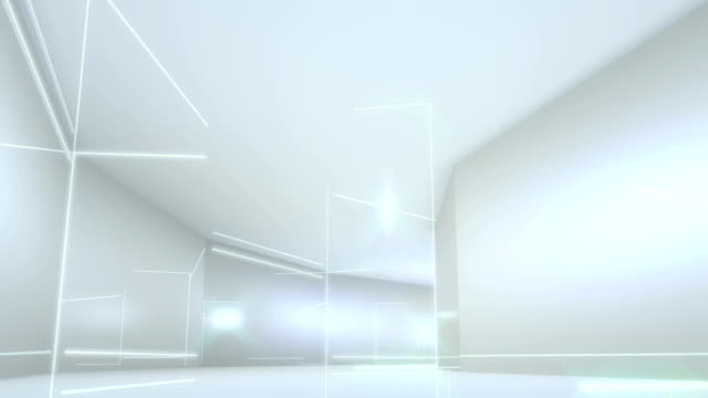 futuristic interior with empty - eternity stock videos & royalty-free footage