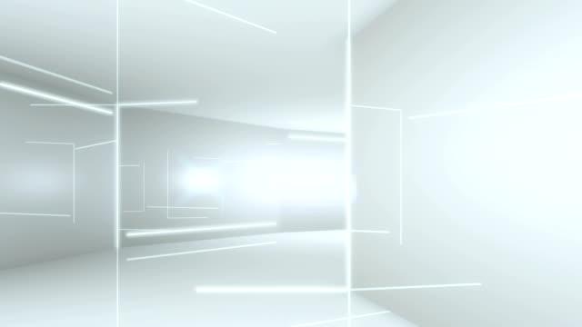 futuristic interior with empty - stile minimalista video stock e b–roll