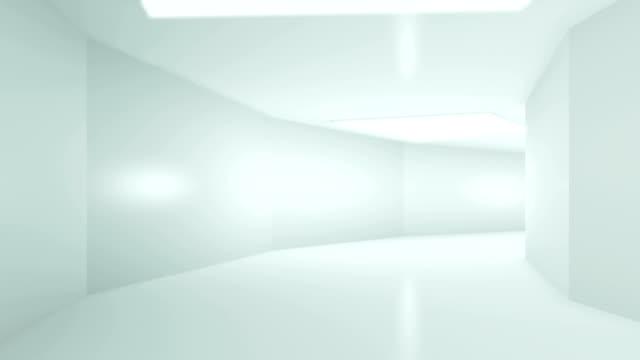 futuristisches interieur mit leerer - geografische lage stock-videos und b-roll-filmmaterial