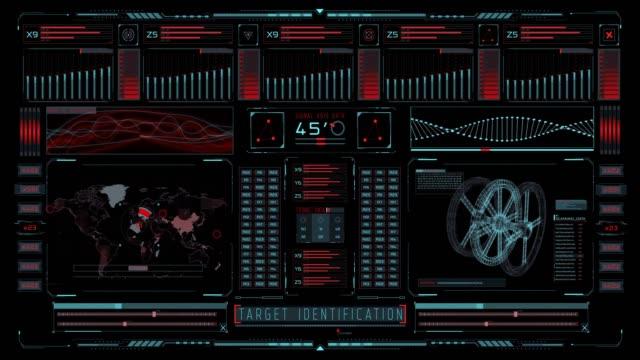 stockvideo's en b-roll-footage met futuristische beweging grafische elementen gebruikersinterface head up display - identiteit