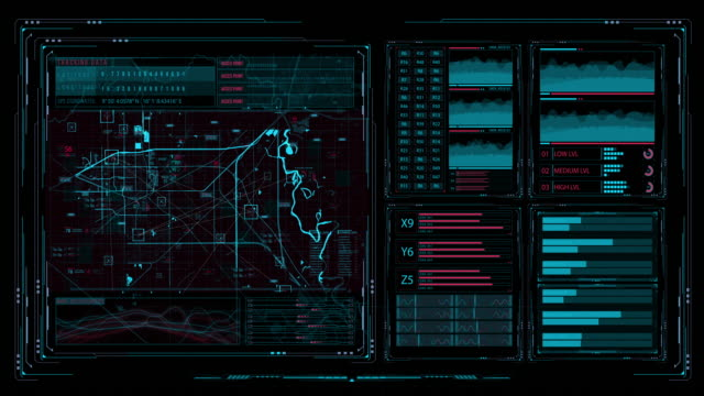 futuristic multi screen gadget panel - big brother orwellian concept stock videos & royalty-free footage